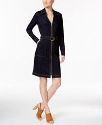 Inc International Concepts Belted Denim Shirtdress Only At Macy's Ink Wash