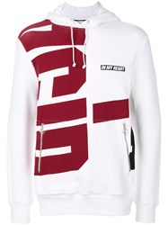 Tim Coppens Printed Hoodie Cotton Polyester White