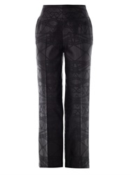 Mary Katrantzou Bridge Jacquard Wool Trousers