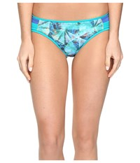 Prana Milou Bottoms Emerald Pinwheel Women's Swimwear Blue