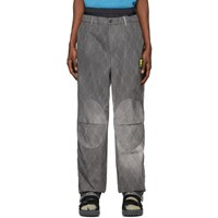Off White Grey Fence Extended Chino Trousers