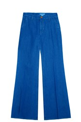 Mih Jeans Wide Flared Trousers Blue