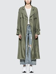 John Elliott Scarlett Trench Coat Green