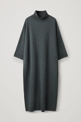 Cos Oversized Lambswool Dress Green