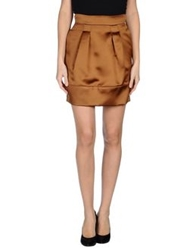 Jo No Fui Knee Length Skirts Brown