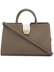 Philippe Model Square Shaped Bag Nude And Neutrals