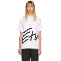 Etudes Studio White Wonder Sign T Shirt
