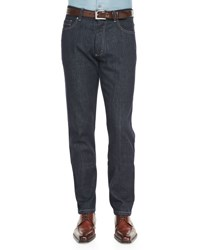 Ermenegildo Zegna Five Pocket Jeans Indigo Navy