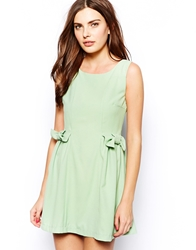 Jovonnista Mira Dress With Bow Detail Mintgreen