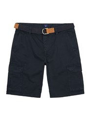 Gant Men's Loose Belted Cargo Shorts French Navy