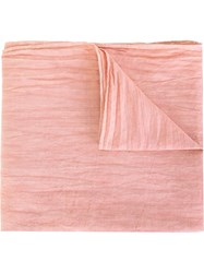 Our Legacy 'Duo' Wrinkled Scarf Pink And Purple