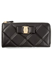 Salvatore Ferragamo 'Miss Vara' Bow Wallet Black