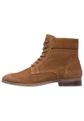 Pier One Laceup Boots Resin Coffee Cognac