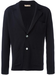 Cruciani Patch Pockets Knit Blazer Blue
