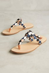 Anthropologie See By Chloe Braided Leather Sandals Black Motif