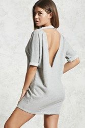 Forever 21 French Terry Cutout Back Dress