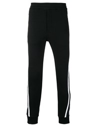 Alexander Mcqueen Side Stripe Track Trousers Black