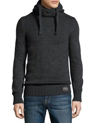 Superdry Long Sleeve Cowl Neck Hoodie Anthracite