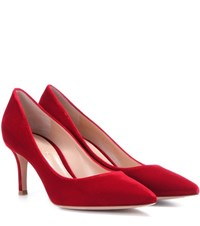 Gianvito Rossi Exclusive To Mytheresa.Com 70 Velvet Pumps Red