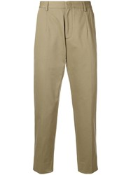 Z Zegna Rear Buckle Chinos Green