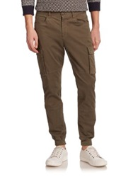 Vince Twill Cargo Joggers Fatigue Green