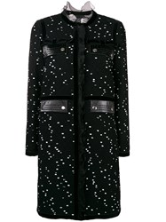 Giambattista Valli Bow Tweed Coat Black