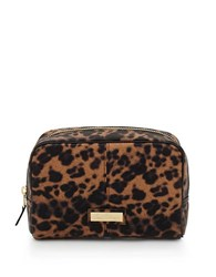 Sam Edelman Leopard Print Make Up Case