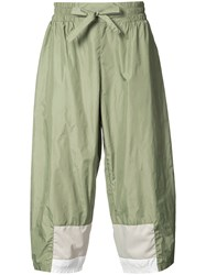 Iise Cropped Colour Block Trousers Men Nylon Polyester L Green