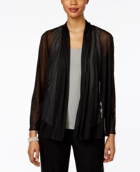 Msk Petite Sparkle Illusion Jacket Black