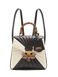 Gucci Queen Margaret Quilted Leather Backpack Black White