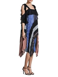 Delfi Collective Lola Striped Pleated Shift Dress Multi