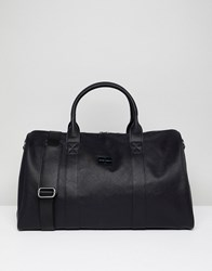 Peter Werth Etched Holdall In Black Black
