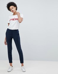 Selected Cropped Trouser Navy