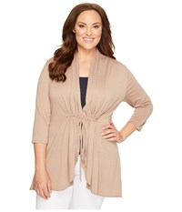 Kiyonna Sunset Stroll Bellini Taupe Women's Blouse