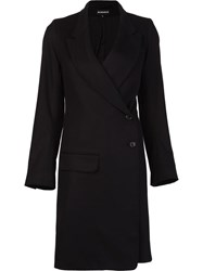 Ann Demeulemeester Side Button Coat Black