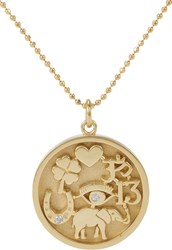 Jennifer Meyer Good Luck Charm Pendant Necklace Colorless