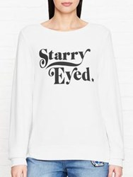 Wildfox Couture Starry Eyed Baggy Beach Jumper White