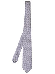 Dunhill Hound's Tooth Check Silk Tie Navy Multi