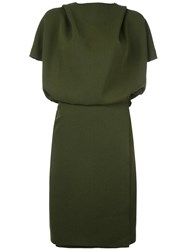 Cedric Charlier Hooded Dress Green
