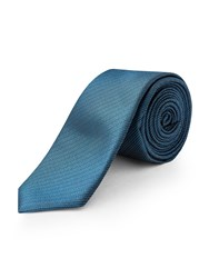Limehaus Self Stripe Tie Teal