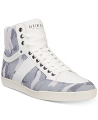 Guess Men's Fomo Sneakers Created For Macy's Men's Shoes White Camoflage