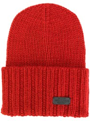 Dsquared2 Ribbed Knitted Hat Men Acrylic Wool Alpaca One Size