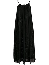 Semicouture Pleated Broderie Anglais Maxi Dress 60