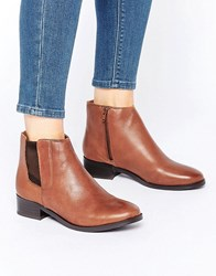 New Look Leather Ankle Boots Tan