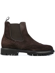 Baldinini Brogue Ankle Boots Brown