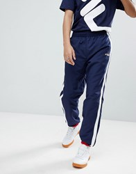 Fila Black Line Joggers With Taping In Navy Navy