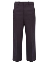 Jacquemus Camille Twill Wide Leg Trousers Navy