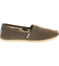 Toms Classic Canvas Shoes Grey