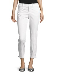 Lord And Taylor Petite Stretch Pique Kelly Ankle Pants White