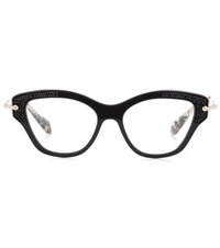 Miu Miu Embellished Glasses Black